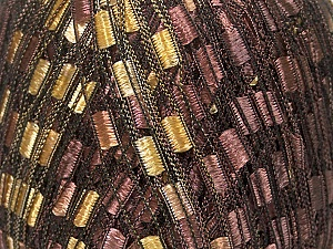 Trellis  Fiber Content 100% Polyester, Brand ICE, Gold, Brown, Yarn Thickness 5 Bulky  Chunky, Craft, Rug, fnt2-42715