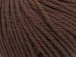 SUPERWASH WOOL BULKY is a bulky weight 100% superwash wool yarn. Perfect stitch definition, and a soft-but-sturdy finished fabric. Projects knit and crocheted in SUPERWASH WOOL BULKY are machine washable! Lay flat to dry. Fiber Content 100% Superwash Wool, Brand ICE, Dark Brown, Yarn Thickness 5 Bulky  Chunky, Craft, Rug, fnt2-42823