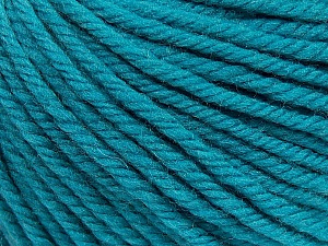 SUPERWASH WOOL BULKY is a bulky weight 100% superwash wool yarn. Perfect stitch definition, and a soft-but-sturdy finished fabric. Projects knit and crocheted in SUPERWASH WOOL BULKY are machine washable! Lay flat to dry. Fiber Content 100% Superwash Wool, Turquoise, Brand ICE, Yarn Thickness 5 Bulky  Chunky, Craft, Rug, fnt2-42834