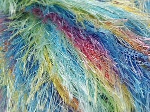 Fiber Content 100% Polyester, Yellow, Pink, Mint Green, Brand Ice Yarns, Blue, fnt2-42955