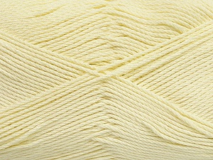 Fiber Content 50% Viscose, 50% Bamboo, Light Yellow, Brand ICE, Yarn Thickness 2 Fine  Sport, Baby, fnt2-43036