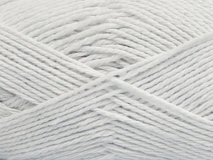 Fiber Content 100% Cotton, White, Brand ICE, Yarn Thickness 3 Light  DK, Light, Worsted, fnt2-44325