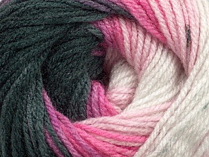 Fiber Content 100% Acrylic, White, Pink Shades, Brand Ice Yarns, Black, Yarn Thickness 3 Light  DK, Light, Worsted, fnt2-44706