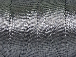 Fiber Content 100% Polyester, Brand ICE, Grey, Yarn Thickness 0 Lace  Fingering Crochet Thread, fnt2-44823