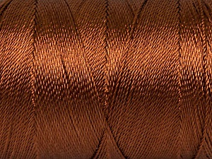Fiber Content 100% Polyester, Brand ICE, Brown, Yarn Thickness 0 Lace  Fingering Crochet Thread, fnt2-44826
