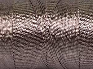 Fiber Content 100% Polyester, Mink, Brand Ice Yarns, Yarn Thickness 0 Lace  Fingering Crochet Thread, fnt2-44827