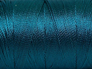 Fiber Content 100% Polyester, Teal, Brand Ice Yarns, Yarn Thickness 0 Lace  Fingering Crochet Thread, fnt2-44840