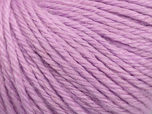 Fiber Content 40% Acrylic, 40% Merino Wool, 20% Polyamide, Light Lilac, Brand ICE, Yarn Thickness 3 Light  DK, Light, Worsted, fnt2-45825