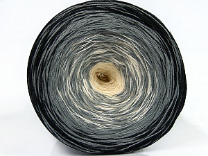 Fiber Content 50% Acrylic, 50% Cotton, White, Brand Ice Yarns, Grey, Black, Yarn Thickness 2 Fine  Sport, Baby, fnt2-46158