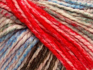 Fiber Content 75% Acrylic, 25% Wool, White, Red, Light Blue, Brand ICE, Grey, Brown, Yarn Thickness 5 Bulky  Chunky, Craft, Rug, fnt2-46226