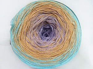 Fiber Content 50% Acrylic, 50% Cotton, Turquoise, Light Turquoise, Brand Ice Yarns, Cafe Latte, Yarn Thickness 2 Fine  Sport, Baby, fnt2-46429