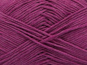 Please note that the yarn weight and the ball length may vary from one color to another for this yarn. Fiber Content 100% Cotton, Brand ICE, Dark Orchid, Yarn Thickness 3 Light  DK, Light, Worsted, fnt2-46491
