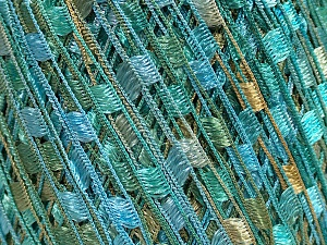 Trellis  Fiber Content 100% Polyester, Turquoise, Mint Green, Brand Ice Yarns, Cafe Latte, fnt2-46511