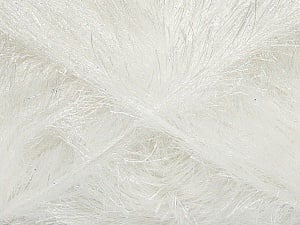 Fiber Content 80% Polyester, 20% Lurex, White, Optical White, Brand ICE, Yarn Thickness 5 Bulky  Chunky, Craft, Rug, fnt2-46548