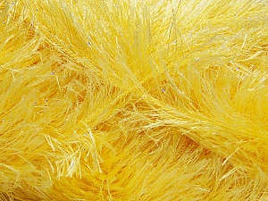Fiber Content 80% Polyester, 20% Lurex, Light Yellow, Brand ICE, Yarn Thickness 5 Bulky  Chunky, Craft, Rug, fnt2-46552