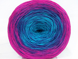 Fiber Content 50% Cotton, 50% Acrylic, Turquoise, Purple, Brand Ice Yarns, Fuchsia, Yarn Thickness 2 Fine  Sport, Baby, fnt2-46653