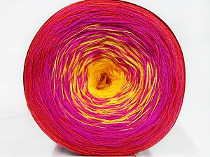 Fiber Content 50% Cotton, 50% Acrylic, Yellow, Red, Brand ICE, Fuchsia, Yarn Thickness 2 Fine  Sport, Baby, fnt2-46656