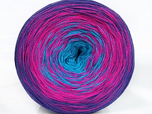 Fiber Content 50% Cotton, 50% Acrylic, Turquoise, Purple, Brand Ice Yarns, Fuchsia, Yarn Thickness 2 Fine  Sport, Baby, fnt2-46660