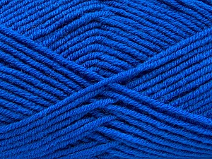 Fiber Content 50% Wool, 50% Acrylic, Brand ICE, Blue, Yarn Thickness 4 Medium  Worsted, Afghan, Aran, fnt2-46688