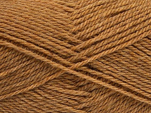 Fiber Content 60% Acrylic, 40% Wool, Light Brown, Brand ICE, Yarn Thickness 3 Light  DK, Light, Worsted, fnt2-46735