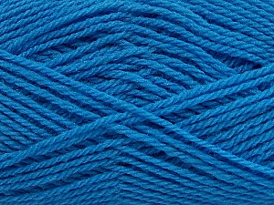 Fiber Content 60% Acrylic, 40% Wool, Brand ICE, Blue, Yarn Thickness 3 Light  DK, Light, Worsted, fnt2-46745
