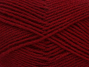 Fiber Content 60% Acrylic, 40% Wool, Brand ICE, Burgundy, Yarn Thickness 3 Light  DK, Light, Worsted, fnt2-46747