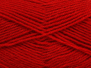 Fiber Content 60% Acrylic, 40% Wool, Red, Brand ICE, Yarn Thickness 3 Light  DK, Light, Worsted, fnt2-46748