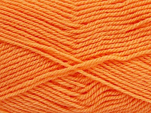 Fiber Content 60% Acrylic, 40% Wool, Brand ICE, Baby Orange, Yarn Thickness 3 Light  DK, Light, Worsted, fnt2-46749