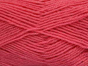 Fiber Content 60% Acrylic, 40% Wool, Pink, Brand ICE, Yarn Thickness 3 Light  DK, Light, Worsted, fnt2-46751
