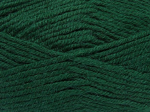 Fiber Content 50% Acrylic, 25% Alpaca, 25% Wool, Brand ICE, Dark Green, Yarn Thickness 5 Bulky  Chunky, Craft, Rug, fnt2-47138
