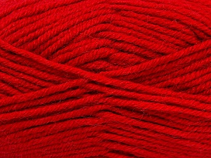 Fiber Content 50% Acrylic, 25% Wool, 25% Alpaca, Red, Brand ICE, Yarn Thickness 5 Bulky  Chunky, Craft, Rug, fnt2-47141