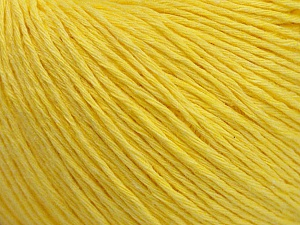 Fiber Content 100% Cotton, Yellow, Brand ICE, Yarn Thickness 1 SuperFine  Sock, Fingering, Baby, fnt2-47515