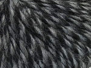 Fiber Content 70% Acrylic, 30% Wool, Brand ICE, Grey, Black, Yarn Thickness 4 Medium  Worsted, Afghan, Aran, fnt2-47712
