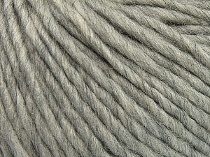 Fiber Content 50% Merino Wool, 25% Alpaca, 25% Acrylic, Light Grey, Brand Ice Yarns, Yarn Thickness 5 Bulky  Chunky, Craft, Rug, fnt2-48697