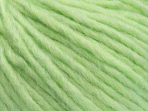 Fiber Content 50% Merino Wool, 25% Acrylic, 25% Alpaca, Light Green, Brand ICE, Yarn Thickness 5 Bulky  Chunky, Craft, Rug, fnt2-48706