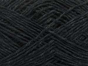 Fiber Content 50% Wool, 50% Viscose, Brand ICE, Anthracite Black, Yarn Thickness 3 Light  DK, Light, Worsted, fnt2-48861