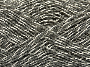 Fiber Content 50% Wool, 50% Viscose, White, Brand ICE, Grey Shades, Yarn Thickness 3 Light  DK, Light, Worsted, fnt2-48864