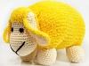 Yellow Cream Lamb Pillow