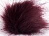 Maroon 2 Faux Fur PomPoms