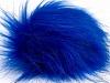Blue 2 Faux Fur PomPoms