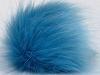 Light Blue 2 Faux Fur PomPoms