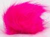 Neon Pink 2 Faux Fur PomPoms