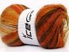 Mohair Magic Orange Gold Cream Brown