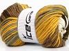 Batik Chunky Yellow White Brown Shades