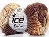 Pure Cotton Print Krem Kahverengi Tonları