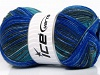 Sale Sock Yarn Turquoise Grey Blue