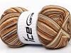 Print Sock Deve Tüyü Kahverengi Tonları
