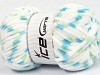 Chenille Baby Colors White Green Blue