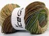 Blues Batik Yeşil Kahverengi Tonları