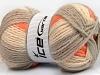 Design Wool Worsted Orange Grey Cream